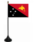 Papua New Guinea Desk / Table Flag with plastic stand and base.